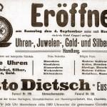 Eröffnungsanzeige Otto Dietsch