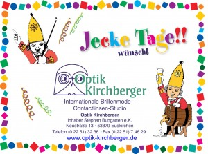 Werbung Kirchberger Karneval